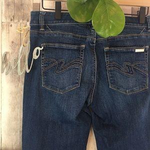 White House Black Market Blanc Boot Cut Jeans